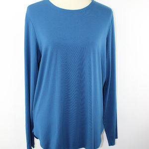 Eileen Fisher Tunic XL Teal Jersey Knit Viscose